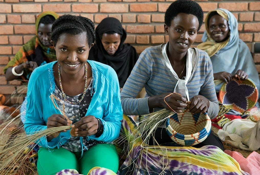 basket weaving from wfwi rwanda members