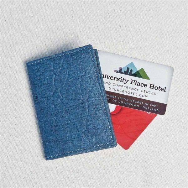 Folded pinatex gray cardholder