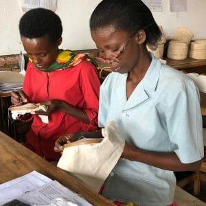 2 women sewing