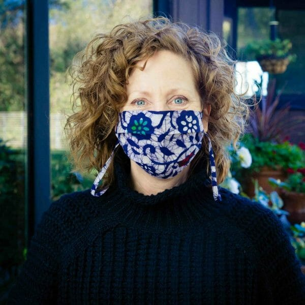 multi colored patterned mask
