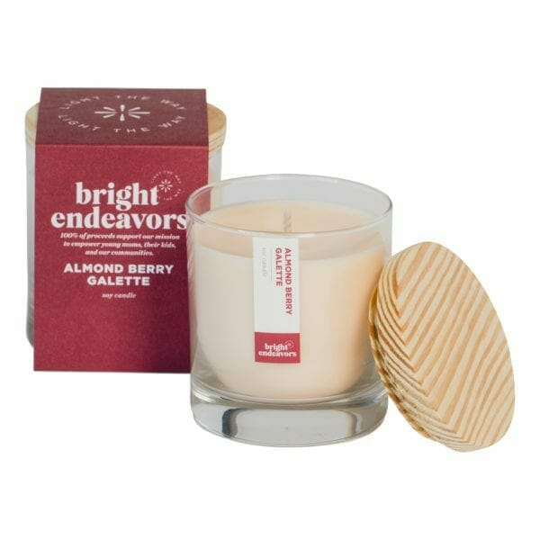 Almond Berry Galette 8oz glass candle